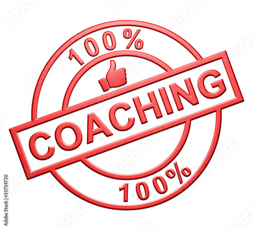 """100% Coaching"" Red Icon"