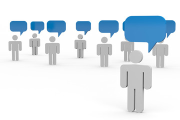 People talking. Concept of global community.
