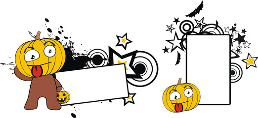 pumpkin cartoon halloween copyspace8
