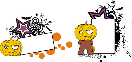 pumpkin cartoon halloween copyspace7