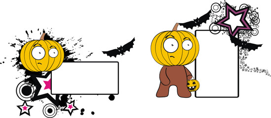 pumpkin cartoon halloween copyspace5