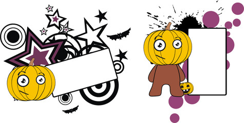 pumpkin cartoon halloween copyspace4