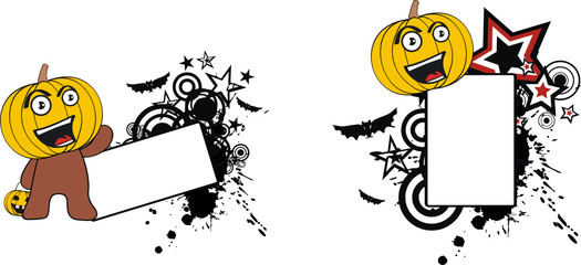 pumpkin cartoon halloween copyspace3