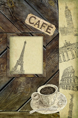 Europe cafe background