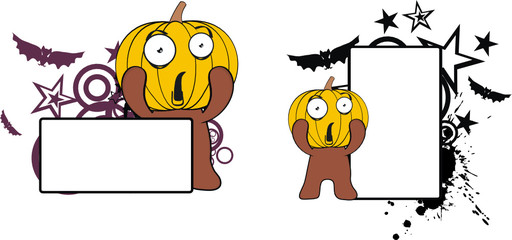 pumpkin cartoon halloween copyspace