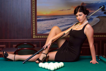 Billiards player.