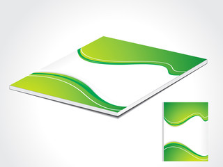 abstract green book cover