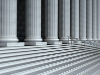 Gerichtshof Treppe Tilt and shift