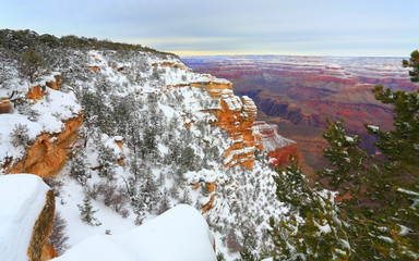 Snow Storm in Grand Canyon, December, AZ