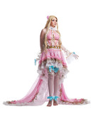 Young girl in fairy-tale doll cosplay costume poster