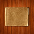 Vector old blank notebook on wood background