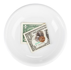 Economy crisis of USA dollar currency concept photo