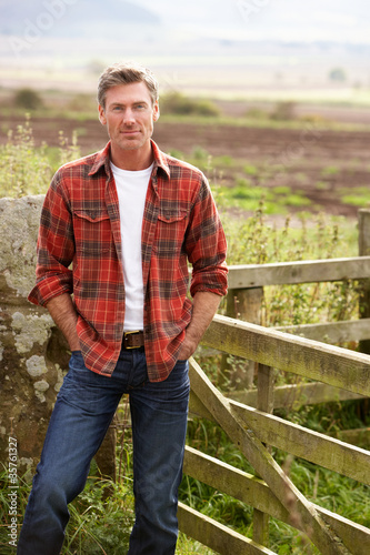 Man in countryside