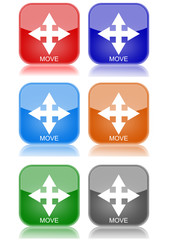 "Move arrow  ""6 buttons of different colors"""