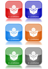 "e-learning  ""6 buttons of different colors"""