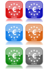 "Euro  ""6 buttons of different colors"""