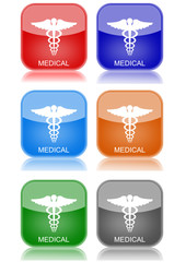 "Medical  ""6 buttons of different colors"""