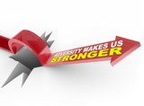 Adversity Makes Us Stronger - Arrow Jumps Over Hole poster