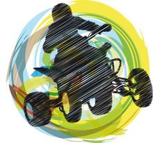 Sketch von Sportsman Reiten Quad-Bike