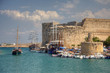 Historic castle and harbour in Kyrenia, Cyprus