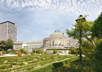 center of Botanique garden in Brussels with pavilion