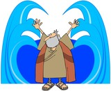 Moses Parting The Waters poster