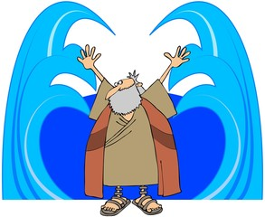 Moses Parting The Waters