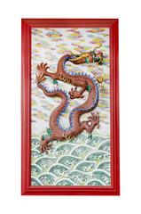 dragon on wall in joss house