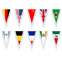 Triangle country flags