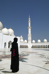 Arabian woman at Sheikh Zayed Mosque Abu Dhabi