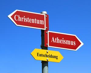 Christemtum oder Atheismus