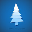 Simple vector christmas tree made from pieces of paper