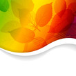 Autumn abstract rainbow floral background