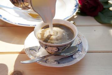 caffè latte giardino