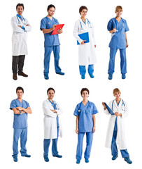 Collection of medical workers