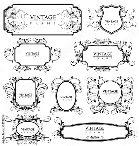 Empty vintage labels