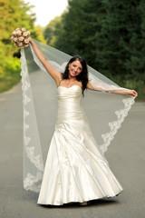 beauty, brunette, girl, happy, lifestyle, smiling, wedding