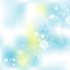 Abstract bubbles background, vector illustration