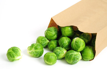 Brussels Sprouts in Brown Bag