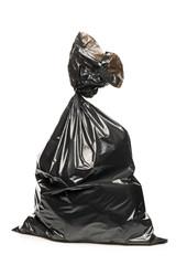 A studio shot of a garbage bag