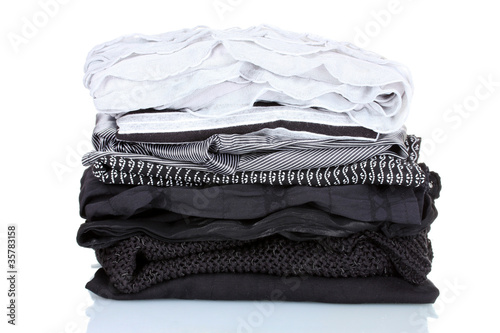 pile of clothes isolated on white