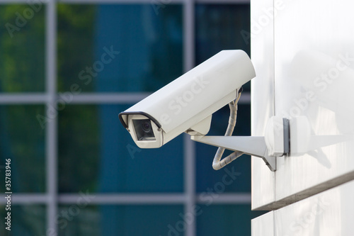 Leinwanddruck Bild security camera