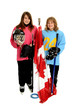 Happy Tween Ringette Playing Canadian Girls