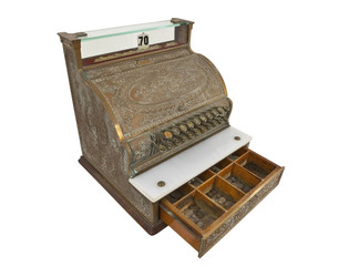 Vintage Cash Register Drawer Open