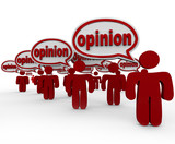 Many People Sharing Opinions Critics Talking Word Opinion poster