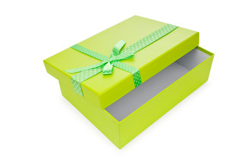 Giftboxes isolated on the white