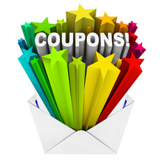 Coupons in Envelope Save When You Buy and Pay Less