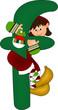 f green alphabet