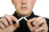 A man broke his cigarette. poster