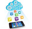ベクター、スマートフォンのアプリケーションとクラウド